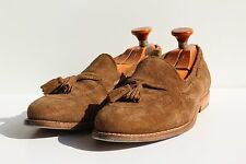 Allen Edmonds 9E Vintage Gent's Brown Suede Tasseled Slip-On Loafer Shoes - USA