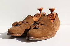 Allen Edmonds 9E Vintage Gent's Brown Suede Tasseled Slip-On Loafer Shoes - USA