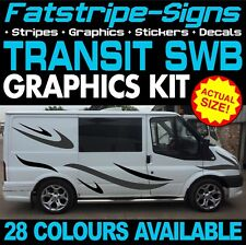 FORD TRANSIT SWB GRAPHICS STICKERS STRIPES DECALS DAY VAN CAMPER ST SPORT 2.0 D