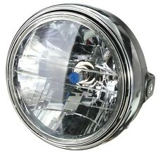 "12V 7"" Motorbike Round Headlight front lamp Halogen H4 Bulb Side Mount Black"