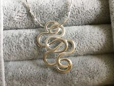 Sterling silver 925 necklace solid pure Roman Knot pendant Sterling silver chain