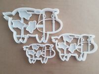 Cow Dairy Farm Animal Shape Cookie Cutter Dough Biscuit Pastry Fondant Stamp