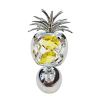 Crystocraft Pineapple Crystal Ornament With Swarovski Elements Gift Boxed Yellow