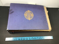 100+ Page STUNNER full 1908-1918 Photo Album Scrapbook travel flowers labels