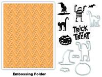 Tim Holtz Sizzix Framelits Dies & Stamps & Embossing Folder - Halloween Mummy