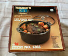 Wagner's 1891 Original -- 5 Quart Cast Iron Dutch Oven Pot with Glass Lid #1268