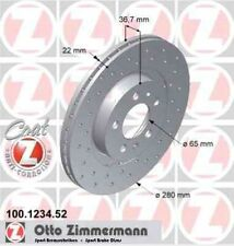 Disque de frein avant ZIMMERMANN PERCE 100.1234.52  SKODA OCTAVIA 1Z3 1.2 TSI 10