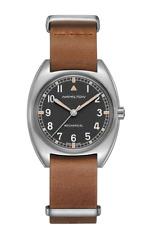 NEW Hamilton H76419531 KHAKI PILOT PIONEER MECHANICAL Brown Leather Watch