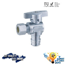 Pack of 10 pcs 1/4 Turn Angle Stop Valve 3/8