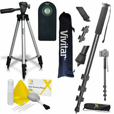 "Lightweight 50"" Photo Tripod + 72"" MONOPOD + REMOTE  FOR CANON T1I T2I T3I T4I"