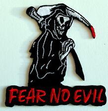 El miedo ningún mal Hierro En Parche Punk Rock Metal del dril de algodón chaqueta de cuero biker gótico Oi