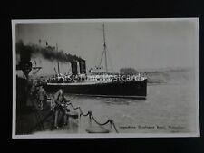 Kent FOLKESTONE Departure of Boulogne Boat RIVIERA shows Man Fishing c1922 RP PC