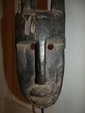 Antique Bamana Mask Bambara Mali, no lobi mossi baga baule baoule kuba pende tif