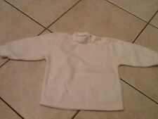 Pull Velours Blanc 1 An