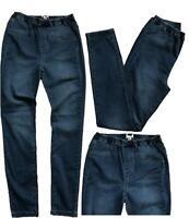NEW! Ladies WHITE STUFF Denim Blue Jeggings Pull-On Full Leg Leggings Jeans 6-14