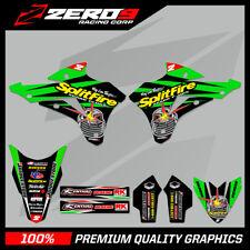 KAWASAKI KX 85 2001 - 2018 motocross gráficos Split Kit Splitfire Verde