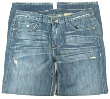 Monarchy Mens Size 33x29 Relaxed Fit Flap Pocket Distressed Faded Denim Jeans
