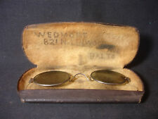 Old Vtg Collectible Gold Plated Shaded Rim Eye Glasses With Case Specs
