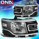 FOR 2013-2019 FORD FLEX FACTORY STYLE HEADLIGHT LAMP LED SIDE MARKER BLACK/CLEAR
