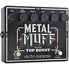 New Electro-Harmonix METAL MUFF Distortion with Top Boost Guitar Effects Pedal