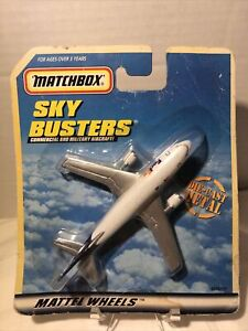 Matchbox Sky Busters Fed Ex Airplane A300B Cargo Plane Skybusters Mattel New NIP