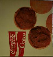 Vintage Coca-Cola Co Coke & Roasted Beef   Litho Sign Plastic for Menu Boards