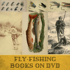 FLY FISHING - 81 RARE OLD BOOKS on Data DVD Angling Rod fishing fly-tying flies