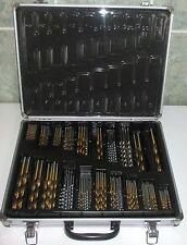 MALLETTE COFFRET ALU 118 FORETS  (Ø 1à 10) kits de forage HSS en titanium