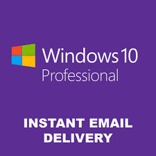 WINDOWS 10 PRO ORIGINAL LICENSE KEYS KEY CODE PROFESSIONAL 32 / 64BIT GENUINE