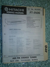 Hitachi ebay hitachi ft 3500 service manual original repair book stereo tuner radio fandeluxe