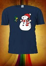 Snoopy Snow Men Christmas Merry Christmas Men Women Unisex T-shirt Vest Top V331