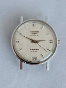 Longines Admiral Five Star Linen Dial Automatic Swiss Vintage Watch