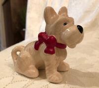 Scottish terrier Schnauzer dog figurines  ceramic
