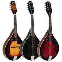 Glarry A Style 8-String Acoustic Electric Mandolin Double-Duty Mandolin 3color
