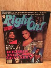 Right On Magazine May 1988 Vol. 18 No. 8 Michael Jackson Rebbie Jackson