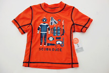 CARTER'S Swim UPF 50+ UV Protection SCUBA DUDE Rash Guard SHIRT BABY BOY 18M NWT
