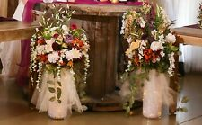 Wedding Silk Flowers Centerpieces, light up vases