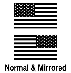 American Flag Vinyl Decals  Jeep Wrangler  Sport Unlimited USA Flag  (1 pair)