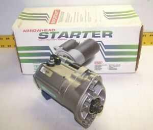 REMANUFACTURED ARROWHEAD STARTER FOR 81-87 DODGE/PLYMOUTH/CHRYSLER 2.6L 16676