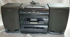 Sony CFD-646 3 CD Changer Stereo Tape AM/FM Radio Tested as Working