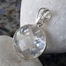 Markenlose runde Echtschmuck-Halsketten & -Anhänger mit Bergkristall
