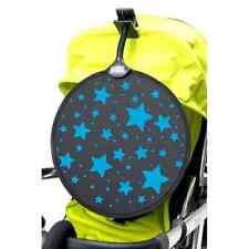 My Buggy Buddy Stroller Sun Shade Pushchair Pram Car Shade Clip On BLUE STARS