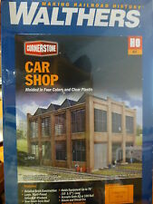 "Walthers HO #933-3040 Car Shop -- Kit - 11-5/8 x 8-13/16 x 7-5/8""  (Building)"