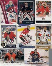 GOALIES Craig Anderson 8 Card Lot Adrenalyn OPC MVP Elite Fleer Ultra ++