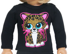 """Kitten T-Shirt Leopard Print for 18"""" American Girl Doll Clothes Sew Beautiful"""