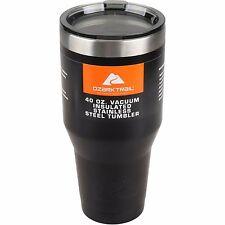 Ozark Trail 40 oz Vacuum Insulated Stainless Steel Tumbler Powder Coating Black