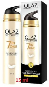 Olaz Total Effects 7In1 Federleichte Tagespflege LSF15 Handtaschengröße, 3x 15ml