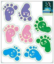 Glow Sticker Carton Footprints Glow In The Dark Stickers Cute Footprint