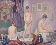 Models by Georges Seurat 60cm x 48cm Art Paper Print