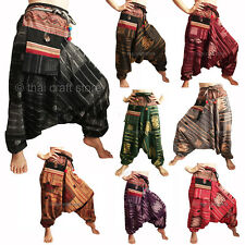 Mens / Womens Pattern Harem Pants Gypsy Hippie Aladdin Hmong Hill Tribe Trousers